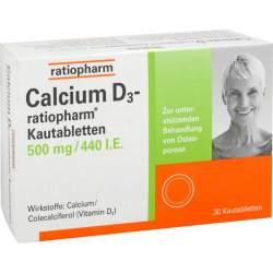Calcium D3-ratiopharm® 500 mg/440 I.E. 30 Kautbl.
