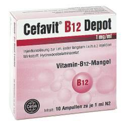 Cefavit® B12 Depot 1 mg/ml Injektionslösung 10 Amp.