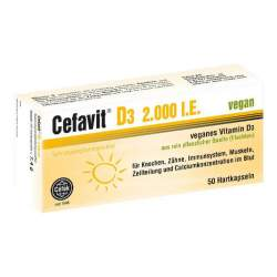 Cefavit® D3 2.000 I.E. vegan 50 Hartkapseln