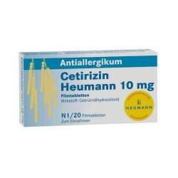 Cetirizin Heumann 10mg 20 Filmtbl.