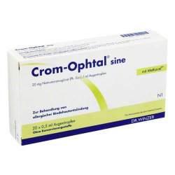 Crom-Ophtal® sine, 20 mg/ml Augentropfen 20 ED 0,5ml