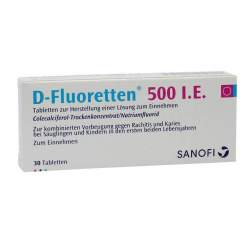 D-Fluoretten® 500 I.E., 30 Tabletten zur Herstellung einer Lösung zum Einnehmen