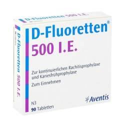 D-Fluoretten® 500 I.E., 90 Tabletten zur Herstellung einer Lösung zum Einnehmen