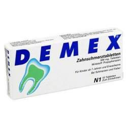 DEMEX® Zahnschmerztabletten 500 mg, 10 Tabletten
