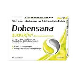 Dobensana Zuckerfrei Zitronengeschmack 1,2mg 24 St.