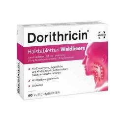 Dorithricin Halstabletten Waldbeere, 0,5 mg/1,0 mg/1,5 mg, 40 Lutschtbl.