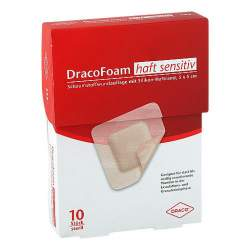 DracoFoam Haft sensitiv Schaumstoffverband 5 x 5cm 10 Stück