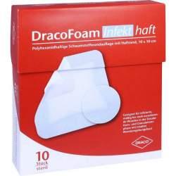 DracoFoam Infekt haft Schaumstoffverband 10x10cm 10 St.
