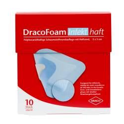 DracoFoam Infekt haft Schaumstoffverband 5x5cm 10 St.