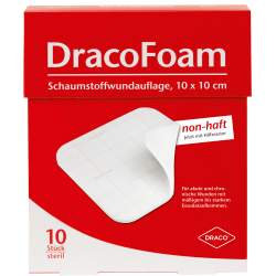 DracoFoam Schaumstoffverband 10 St. 10x10cm