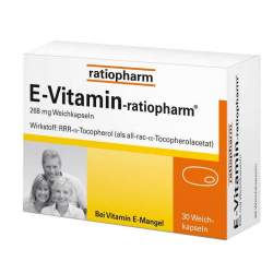 E-Vitamin-ratiopharm®, 268 mg 30 Weichkapseln