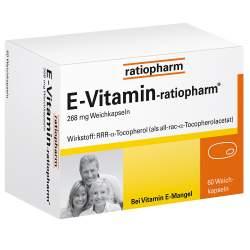 E-Vitamin-ratiopharm®, 268 mg 60 Weichkapseln