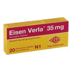 Eisen Verla 35 mg 20 überzogene Tbl.