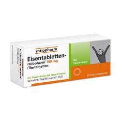 Eisentabletten-ratiopharm® 100mg 50 Filmtbl.