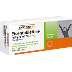 Eisentabletten-ratiopharm® N 50mg 100 Filmtbl.
