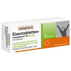 Eisentabletten-ratiopharm® N 50mg 50 Filmtbl.
