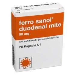 ferro sanol® duodenal mite 50mg 20 magensaftres. Hartkaps.
