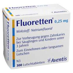 Fluoretten® 0,25 mg, 300 Lutschtabletten