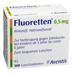 Fluoretten® 0,5 mg, 300 Lutschtabletten
