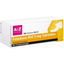 Folsäure AbZ 5mg 100 Tbl.