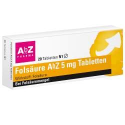 Folsäure AbZ 5mg 20 Tbl.