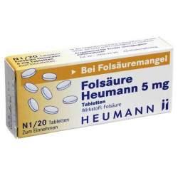 Folsäure Heumann 5mg 20 Tbl.