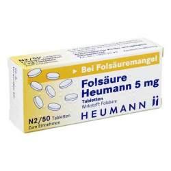 Folsäure Heumann 5mg 50 Tbl.