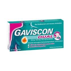 Gaviscon® Dual 250 mg / 106,5 mg / 187,5 mg 16 Kautabletten