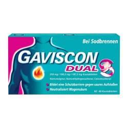 Gaviscon® Dual 250 mg / 106,5 mg / 187,5 mg 48 Kautabletten