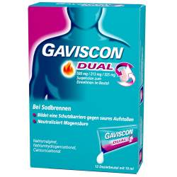 Gaviscon Dual 500mg/213mg/325mg 12x10 ml