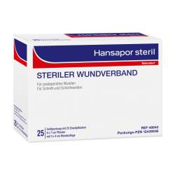 HANSAPOR steril Wundverband 25x 6 cm x 7 cm Wundauflage: 3x 4 cm