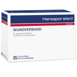 HANSAPOR steril Wundverband 25x 8 cm x 10 cm Wundauflage: 4x 6 cm