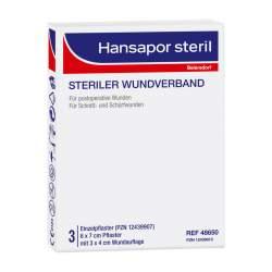 HANSAPOR steril Wundverband 3x 6 cm x 7 cm Wundauflage: 3x 4 cm