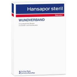HANSAPOR steril Wundverband 3x 8 cm x 10 cm Wundauflage: 4x 6 cm