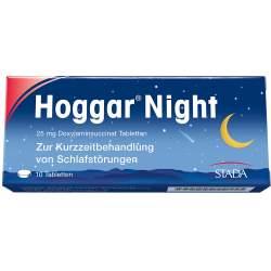 Hoggar® Night 25mg Doxylaminsuccinat 10 Tbl.