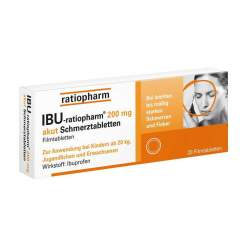 IBU-ratiopharm® 200mg akut 20 Schmerztbl.