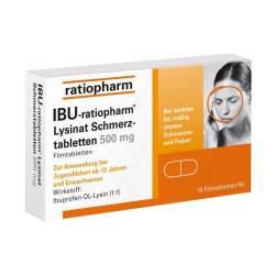 Ibu-ratiopharm® Lysinat 500mg 10 Schmerztbl.