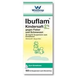 Ibuflam Kindersaft 20mg/ml gegen Fieber und Schmerzen, 100 ml Suspension zum Einnehmen