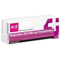 Ibuprofen AbZ 200mg 50 Filmtbl.