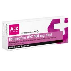 Ibuprofen AbZ 400 mg akut 10 Filmtabletten