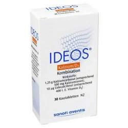 Ideos® 500 mg/400 I.E. 30 Kautabletten
