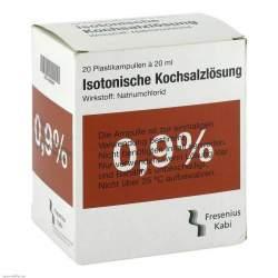 Isoton Kochsalzlsg Fres 0,9% Plast Amp. 20x20ml