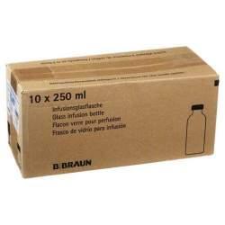 Isotone Kochsalz-Lösung 0,9% Braun Infusionslösung 10 Glasflaschen 250 ml