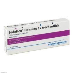 Jodetten® Henning 1x wöchentlich, 1530 Mikrogramm, 14 Tabletten