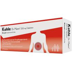 Kohle Dr. Mann 250 mg 20 Tabletten