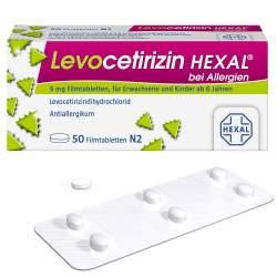 Levocetirizin HEXAL® bei Allergien 5 mg 50 Filmtabletten