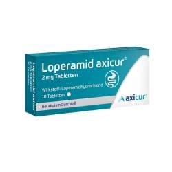 Loperamid axicur® 2 mg 10 Tabletten