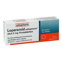 Loperamid-ratiopharm® akut 2mg 10 Filmtbl.
