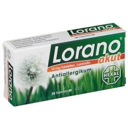 Lorano® akut 10mg 20 Tbl.