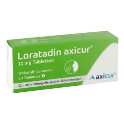 Loratadin axicur® 10 mg 50 Tabletten